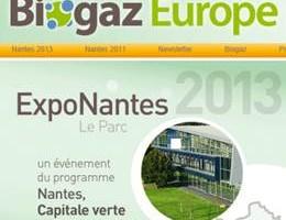 BIOGAZ Europe réunissait à Nantes les acteurs du biogaz